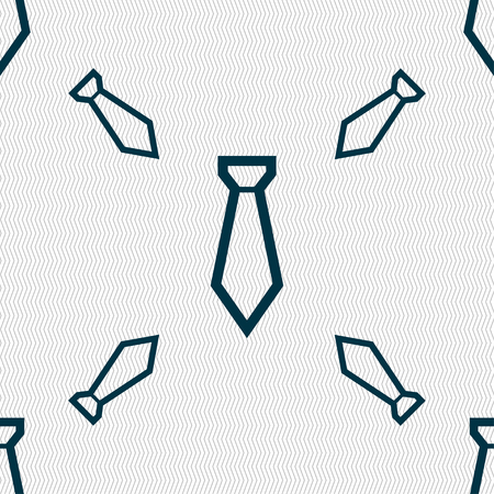 formal party: Tie icon sign. Seamless pattern with geometric texture. illustration Stock Photo