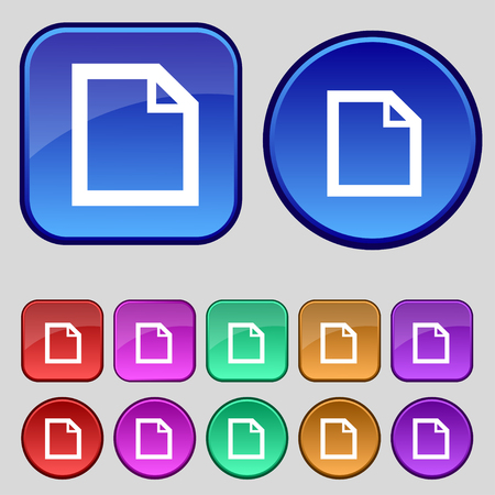 Edit document sign icon. content button. Set colourful buttons Modern UI website navigation. illustration Stock Photo