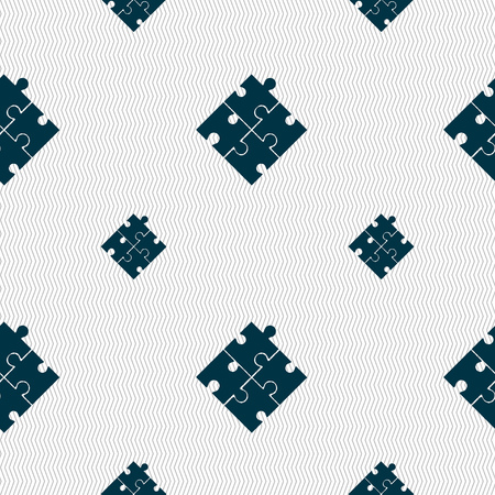 conundrum: Puzzle piece icon sign. Seamless pattern with geometric texture. illustration