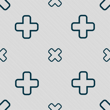 dismiss: Cancel icon sign. Seamless pattern with geometric texture. illustration