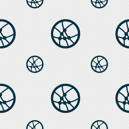Basketball icon sign. Seamless pattern with geometric texture. illustration