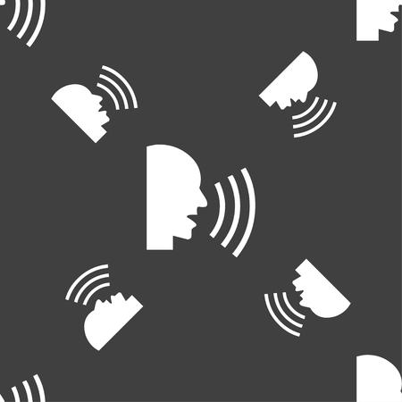 noisily: Talking Flat modern web icon. Seamless pattern on a gray background. illustration