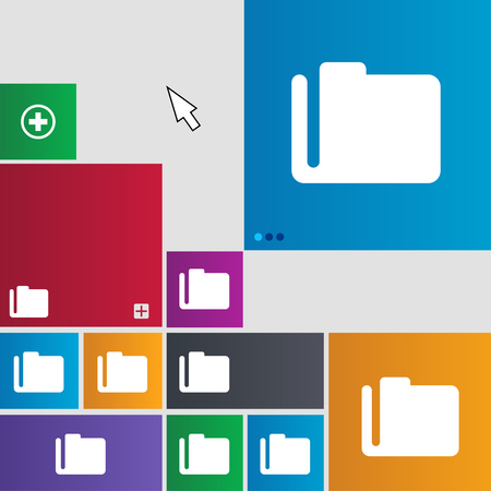 map case: Document folder icon sign. buttons. Modern interface website buttons with cursor pointer. illustration