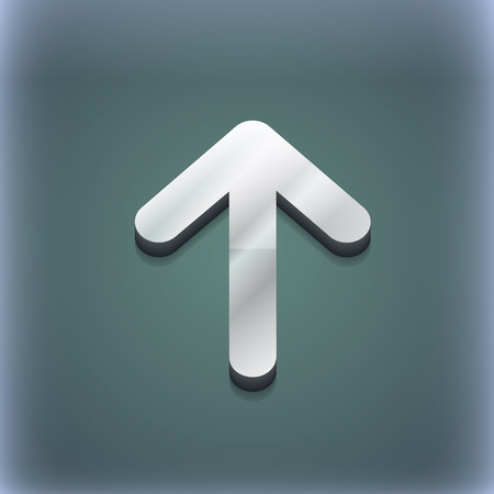 this side up: Arrow up, This side up icon symbol. 3D style. Trendy, modern design with space for your text illustration. Raster version