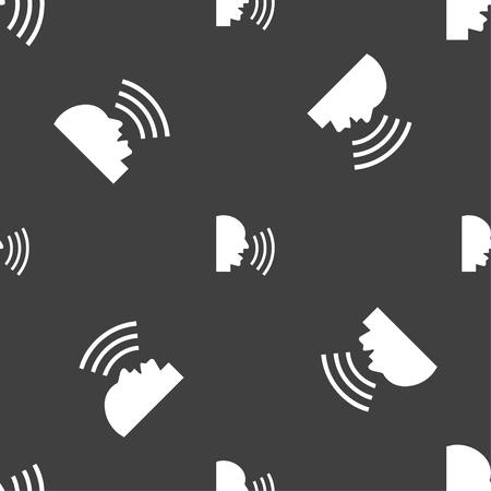 sneeze: Talking Flat modern web icon. Seamless pattern on a gray background. illustration
