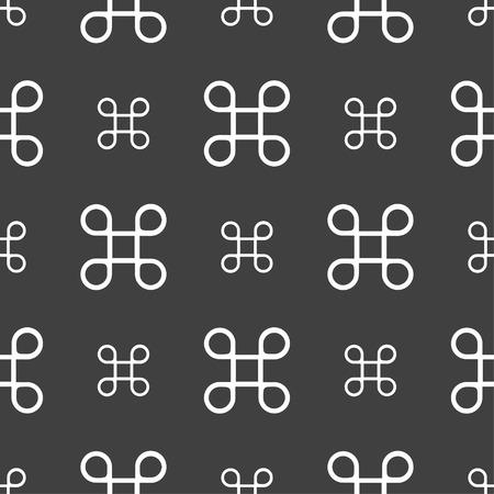 maestro: Keyboard Maestro icon. Seamless pattern on a gray background. illustration