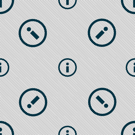 inform information: Information sign icon. Info speech bubble symbol. Seamless pattern with geometric texture. illustration