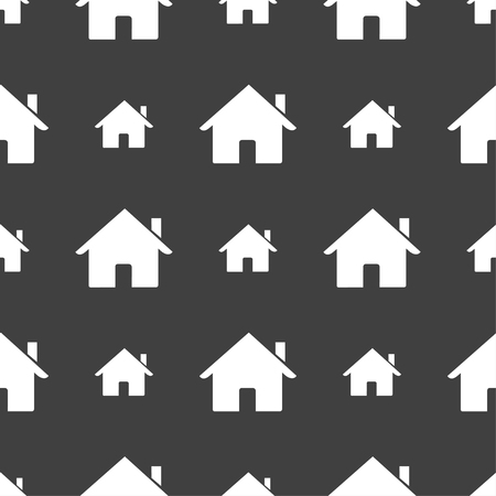 main: Home sign icon. Main page button. Navigation symbol. Seamless pattern on a gray background. illustration