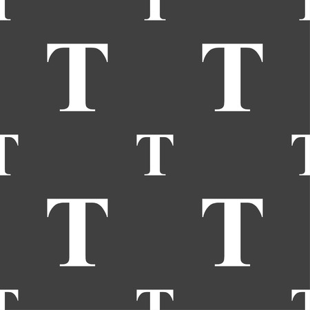 t document: Text edit icon sign. Seamless pattern on a gray background. illustration