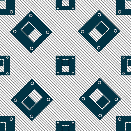 power switch: Power switch icon sign. Seamless pattern with geometric texture. illustration