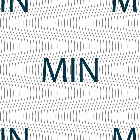 minimum sign icon. Seamless pattern with geometric texture. illustration
