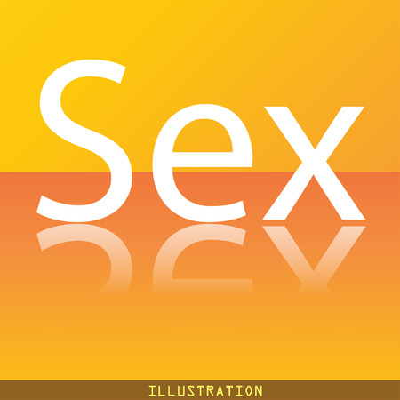 raster sex: sex icon symbol Flat modern web design with reflection and space for your text. illustration. Raster version