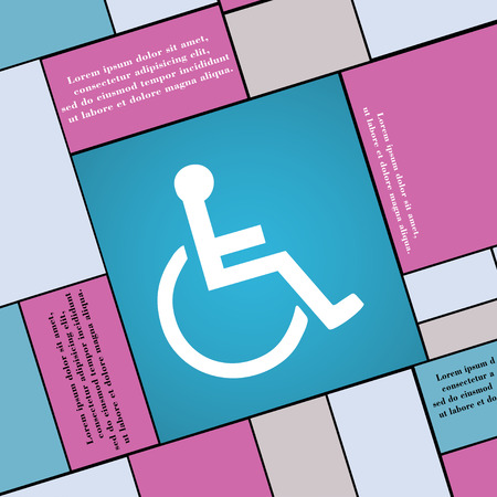paralyze: disabled icon sign. Modern flat style for your design. illustration