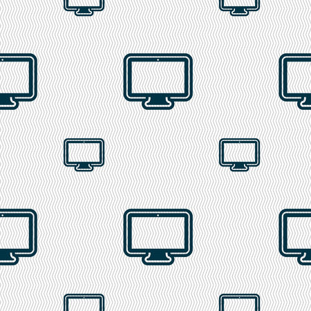 oled: monitor icon sign. Seamless pattern with geometric texture. illustration