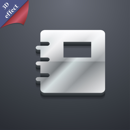 reading app: Book icon symbol. 3D style. Trendy, modern design with space for your text illustration. Rastrized copy