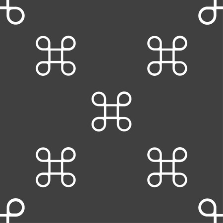 maestro: Keyboard Maestro icon. Seamless pattern on a gray background. illustration