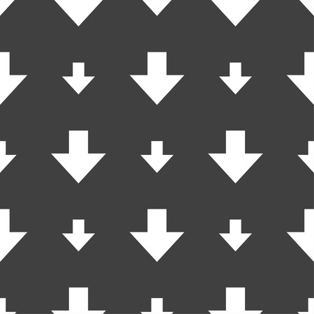 downloading: Download sign. Downloading flat icon. Load label. Seamless pattern on a gray background. illustration