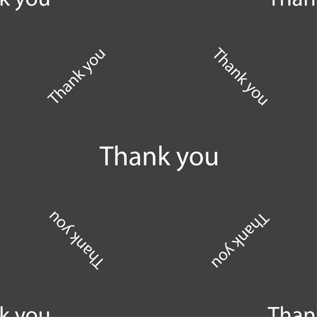 gratitude: Thank you sign icon. Gratitude symbol. Seamless pattern on a gray background. illustration Stock Photo