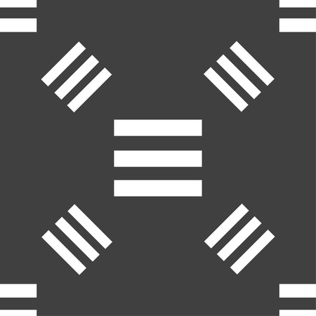 align: Align text to the width icon sign. Seamless pattern on a gray background. illustration