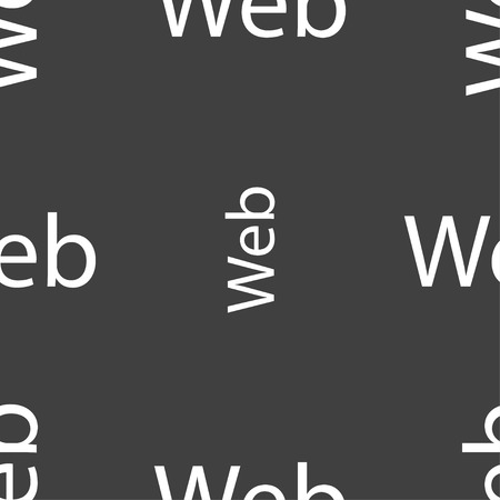 world wide: Web sign icon. World wide web symbol. Seamless pattern on a gray background. illustration Stock Photo