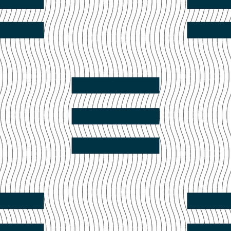 align: Align text to the width icon sign. Seamless pattern with geometric texture. illustration