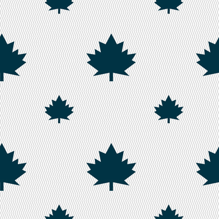 maple leaf icon: Maple leaf icon. Seamless pattern with geometric texture. illustration Stock Photo
