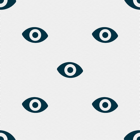 a sense of: sixth sense, the eye icon sign. Seamless pattern with geometric texture. illustration