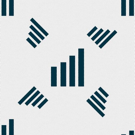 wireless signal: Mobile signal sign. Wi-fi symbol. Wireless Network icon. Wifi zone. Seamless pattern with geometric texture. illustration Stock Photo