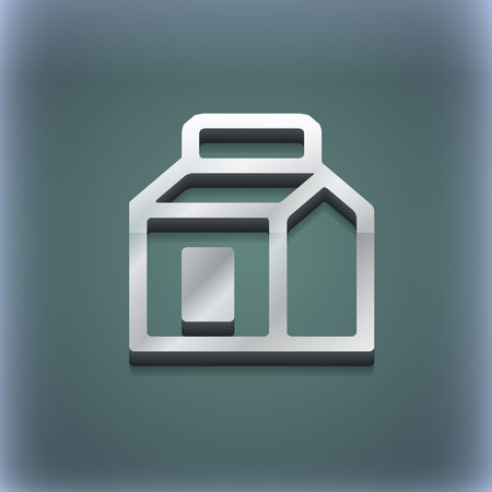 liter: Milk, Juice, Beverages, Carton Package icon symbol. 3D style. Trendy, modern design with space for your text illustration. Raster version