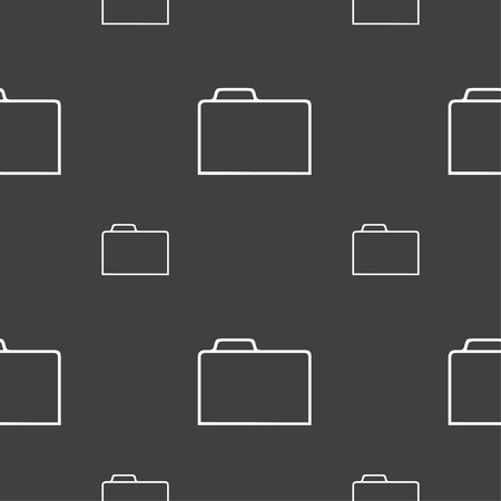 map case: Document folder sign. Accounting binder symbol. Seamless pattern on a gray background. illustration