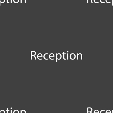 reception table: Reception sign icon. Hotel registration table symbol. Seamless pattern on a gray background. illustration
