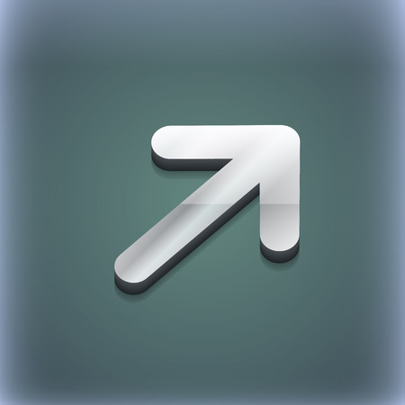 resize: Arrow Expand Full screen Scale icon symbol. 3D style. Trendy, modern design with space for your text illustration. Raster version