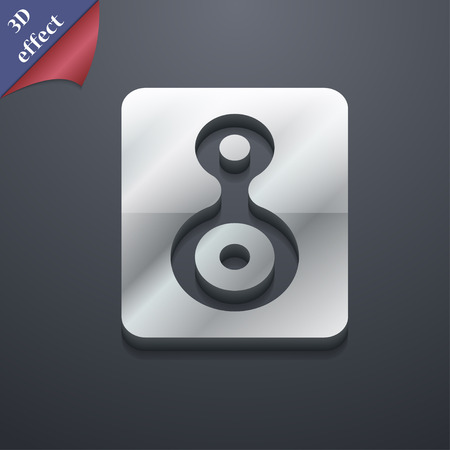 videotape: Video Tape icon symbol. 3D style. Trendy, modern design with space for your text illustration. Rastrized copy