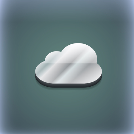 Cloud icon symbol. 3D style. Trendy, modern design with space for your text illustration. Raster version Stock Photo