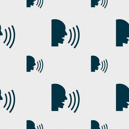 sneeze: Talking Flat modern web icon. Seamless pattern with geometric texture. illustration
