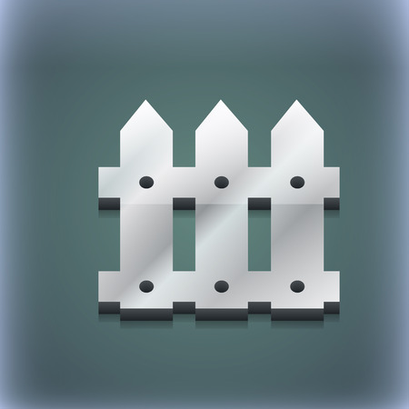 bucolic: Fence icon symbol. 3D style. Trendy, modern design with space for your text illustration. Raster version