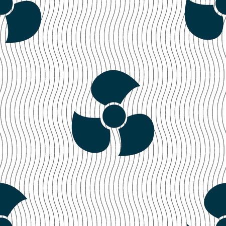 air flow: Fans, propeller icon sign. Seamless pattern with geometric texture. illustration