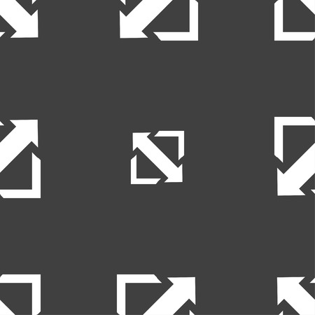 wider: Deploying video, screen size icon sign. Seamless pattern on a gray background. illustration Stock Photo