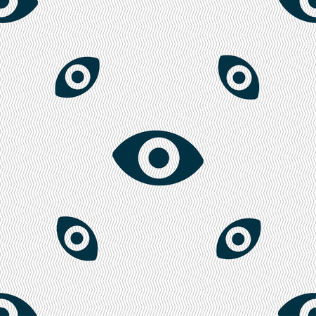 sense of: sixth sense, the eye icon sign. Seamless pattern with geometric texture. illustration