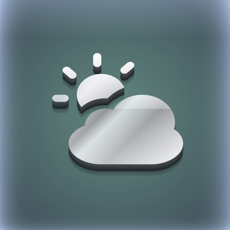 meteorology: weather icon symbol. 3D style. Trendy, modern design with space for your text illustration. Raster version