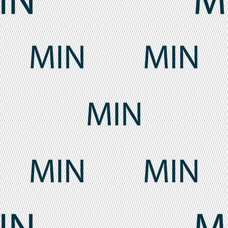 minimum sign icon. Seamless abstract background with geometric shapes. illustration