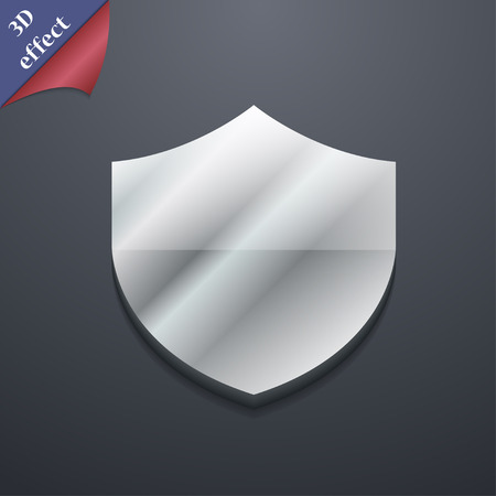 security token: Shield, Protection icon symbol. 3D style. Trendy, modern design with space for your text illustration. Rastrized copy