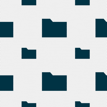 map case: Document folder icon sign. Seamless pattern with geometric texture. illustration