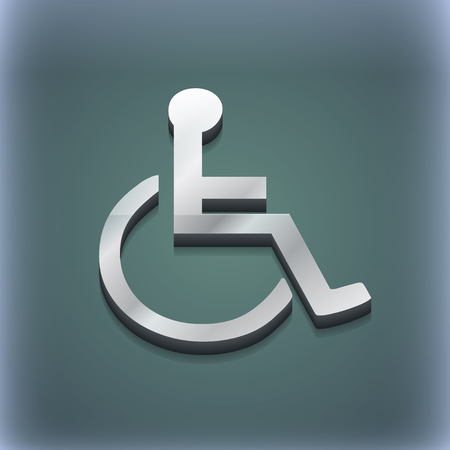 disabled icon symbol. 3D style. Trendy, modern design with space for your text illustration. Raster version Banco de Imagens - 49682935
