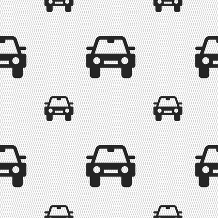 coupe: Auto icon sign. Seamless pattern with geometric texture. illustration