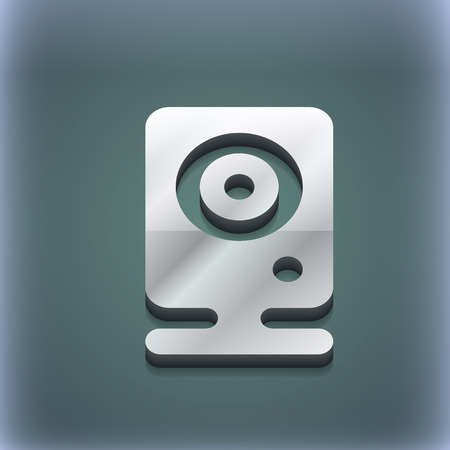 web cam: Web cam icon symbol. 3D style. Trendy, modern design with space for your text illustration. Raster version Stock Photo