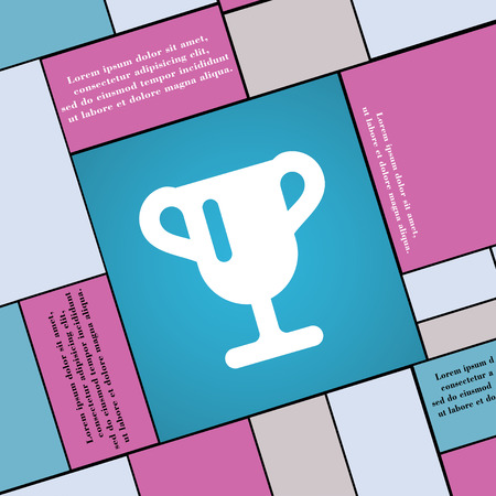 awarding: Winner cup, Awarding of winners, Trophy icon sign. Modern flat style for your design. illustration Stock Photo
