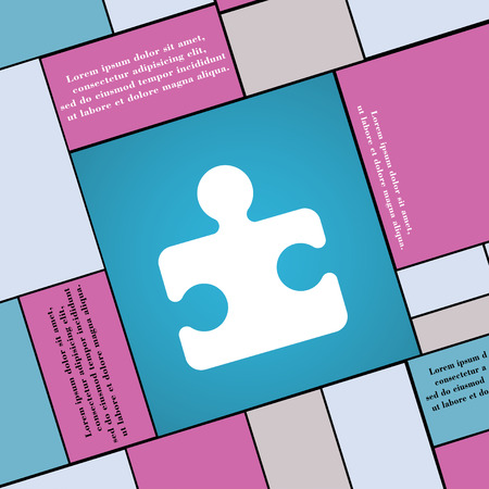 puzzle corners: Puzzle piece icon sign. Modern flat style for your design. illustration