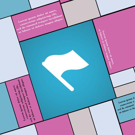 abort: Finish, start flag icon sign. Modern flat style for your design. illustration