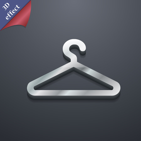 spring coat: clothes hanger icon symbol. 3D style. Trendy, modern design with space for your text illustration. Rastrized copy